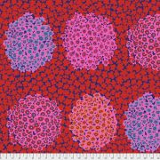 Hydrangea - Red by The Kaffe Fassett Collective February 2021 Release - OzQuilts