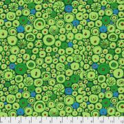 Button Mosaic - Green by The Kaffe Fassett Collective February 2021 Release - OzQuilts