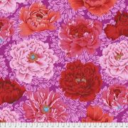 Brocade Peony - Hot by The Kaffe Fassett Collective February 2021 Release - OzQuilts