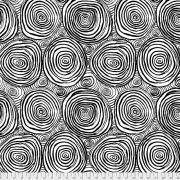 """Black Onion Rings 108"""" Wideback by The Kaffe Fassett Collective - Onion Rings Quilt Backing"""