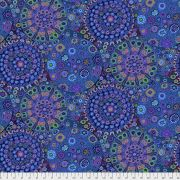 """Blue Millefiore 108"""" Wideback by The Kaffe Fassett Collective - Millefiore Quilt Backing"""