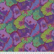 """Purple Lotus Leaf 108"""" Wideback by The Kaffe Fassett Collective - Lotus Leaf Quilt Backing"""