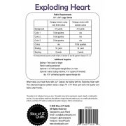 Exploding Heart Quilt Pattern by Slice of Pi Quilts - Quilt Patterns