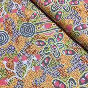 Aboriginal Art Fabric 5 Fat Quarter Bundle - Gold by M & S Textiles Fat Quarter Packs - OzQuilts