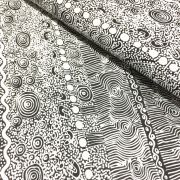 Aboriginal Art Fabric 5 Fat Quarter Bundle - White Colourway by M & S Textiles Fat Quarter Packs - OzQuilts