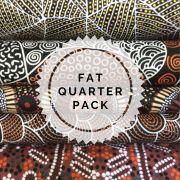 Aboriginal Art Fabric 5 Fat Quarter Bundle - Black & Copper Colourway by M & S Textiles Fat Quarter Packs - OzQuilts