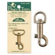 Clover Swivel Ring 20mm Antique Gold by Clover - Hardware for Bags