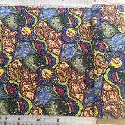 Bambillah Australian Aboriginal Art Fabric by Nambooka- Wideback 150cm wide x 65cm by M & S Textiles - Wide Quilt Backs