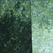 Java Fusion Batik Light Green to Dark Green Ombre Batik Watercolor Blender By Fresh Water Designs by Hoffman - Batik