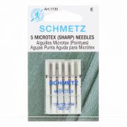 Schmetz Sharp Microtex Machine Needles, Size 80/12 by Schmetz - Sewing Machines Needles