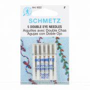 Schmetz Double Eye Topstitch Machine Needle Size 12/80 by Schmetz - Sewing Machines Needles