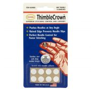 Thimble Crown Stainless Steel With Adhesive by Colonial - Thimbles