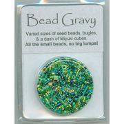 Bead Gravy Green Pesto by Hofmann Originals - Beads