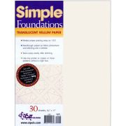 """Simple Foundations Translucent Vellum Paper, 8.5"""" x 11"""" (30 Sheets) by C&T Publishing - Foundation Papers"""