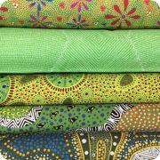 Aboriginal Art Fabric 20 Fat Quarter Bundle Y by M & S Textiles Fat Quarter Packs - OzQuilts