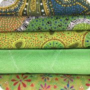 Aboriginal Art Fabric 20 Fat Quarter Bundle Q by M & S Textiles Fat Quarter Packs - OzQuilts