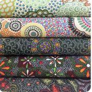 Aboriginal Art Fabric 20 Fat Quarter Bundle X by M & S Textiles Fat Quarter Packs - OzQuilts