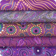 Aboriginal Art Fabric 20 Fat Quarter Bundle CC by M & S Textiles Fat Quarter Packs - OzQuilts