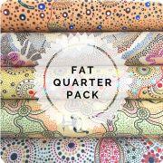 Aboriginal Art Fabric 5 Fat Quarter Bundle by M & S Textiles - Fat Quarter Packs