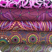 Aboriginal Art Fabric 20 Fat Quarter Bundle V by M & S Textiles Fat Quarter Packs - OzQuilts