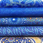 Aboriginal Art Fabric 20 Fat Quarter Bundle EE by M & S Textiles Fat Quarter Packs - OzQuilts