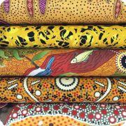 Aboriginal Art Fabric 20 Fat Quarter Bundle BB by M & S Textiles Fat Quarter Packs - OzQuilts