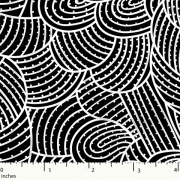 Body Painting 2 Black Australian Aboriginal Art Fabric by Anna Pitjara by M & S Textiles Cut from the Bolt - OzQuilts