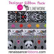 Tula Pink Linework Designer Ribbon Pack by Renaissance Ribbons - Ribbon