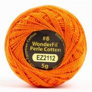 Wonderfil Eleganza Alison Glass Pumpkin, (EL5G-2112) 8wt Cotton Thread 5g balls by Wonderfil Eleganza Perle 8 Balls Eleganza 8wt Alison Glass - OzQuilts