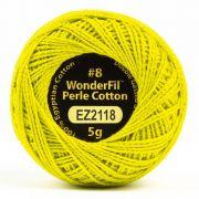 Wonderfil Eleganza Alison Glass Sulfur, (EL5G-2118) 8wt Cotton Thread 5g balls by Wonderfil Eleganza Perle 8 Balls Eleganza 8wt Alison Glass - OzQuilts