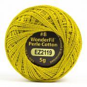Wonderfil Eleganza Alison Glass Chartreuse, (EL5G-2119) 8wt Cotton Thread 5g balls by Wonderfil Eleganza Perle 8 Balls Eleganza 8wt Alison Glass - OzQuilts