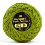 Wonderfil Eleganza Alison Glass Olive, (EL5G-2120) 8wt Cotton Thread 5g balls by Wonderfil Eleganza Perle 8 Balls Eleganza 8wt Alison Glass - OzQuilts