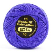 Wonderfil Eleganza Alison Glass Colbalt, (EL5G-2132) 8wt Cotton Thread 5g balls by Wonderfil Eleganza Perle 8 Balls Eleganza 8wt Alison Glass - OzQuilts