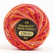 Wonderfil Eleganza Alison Glass Electric, (EL5GM-2203) 8wt Cotton Thread 5g balls by Wonderfil Eleganza Perle 8 Balls Eleganza 8wt Alison Glass - OzQuilts