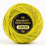 Wonderfil Eleganza Alison Glass Lichen, (EL5GM-2206) 8wt Cotton Thread 5g balls by Wonderfil Eleganza Perle 8 Balls Eleganza 8wt Alison Glass - OzQuilts