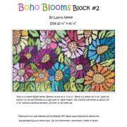 BOHO Blooms Block #2 Collage Pattern by Laura Heine by Fiberworks - Collage