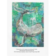 Tyde...The Whale Collage Pattern by Laura Heine by Fiberworks Collage  - OzQuilts