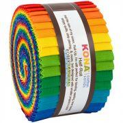 "Kona Cotton Roll Ups Bright Rainbow Palette 24 strips x 2 ½"" wide by Robert Kaufman Fabrics - Kona Cotton"