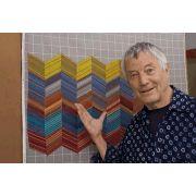 Kaffe Fassett Design Wall Flannel 112cm x 35cm End of Bolt by The Kaffe Fassett Collective - Quilt Batting Offcuts & End of Rolls