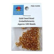 Embellishment Kit - Gold Seed Beads by PoorHouse Quilt Designs - Beads