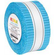 "Kona Cotton 40 strips x 2 ½ ""  wide  - Horizon -Kona Colour of the year 2021 by Robert Kaufman Fabrics - 2.5"" Strips"