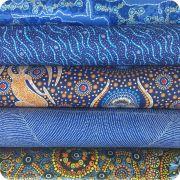 Aboriginal Art Fabric 20 Fat Quarter Bundle FF by M & S Textiles Fat Quarter Packs - OzQuilts
