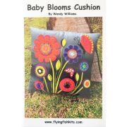 Baby Blooms Cushion Pattern by Wendy Williams by Wendy Williams of Flying FIsh Kits - Wendy Williams