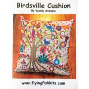 Birdsville Cushion Pattern by Wendy Williams by Wendy Williams of Flying FIsh Kits - Wendy Williams