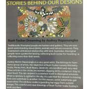 Bush Food Dreaming Black Australian Aboriginal Art Fabric by Tanya Price by M & S Textiles Cut from the Bolt - OzQuilts