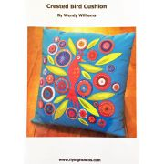 Crested Bird Cushion Pattern by Wendy Williams by Wendy Williams of Flying FIsh Kits - Wendy Williams