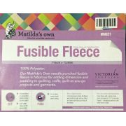 Matidas Own Fusible Fleece 115cm wide x 50cm End of Roll by Matilda's Own - Quilt Batting Offcuts & End of Rolls