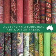 Aboriginal Art Fabric 20 Fat Quarter Bundle Z by M & S Textiles Fat Quarter Packs - OzQuilts