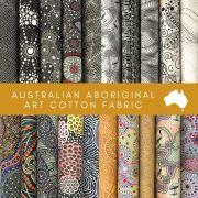 Aboriginal Art Fabric 20 Fat Quarter Bundle R by M & S Textiles Fat Quarter Packs - OzQuilts