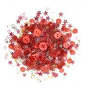 Lilac Lane Sequins Poppy Fields by Buttons Galore - Beads